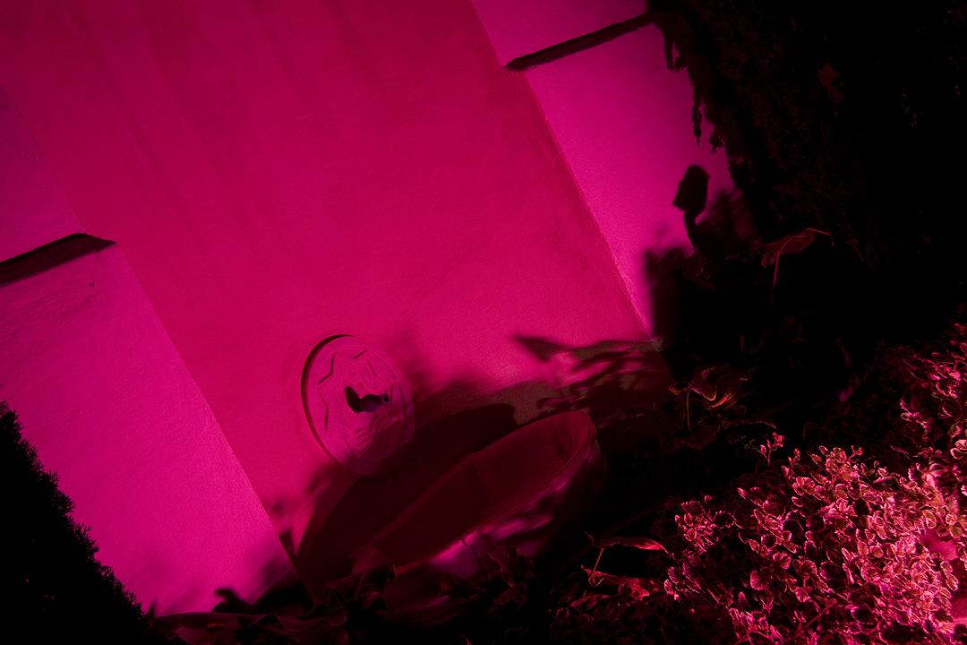 iluminación cromática de fuente